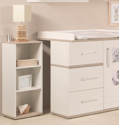 roba seitenregal zur wickelkommode moritz nur in kombination mit kinderzimmer moritz baby. Black Bedroom Furniture Sets. Home Design Ideas